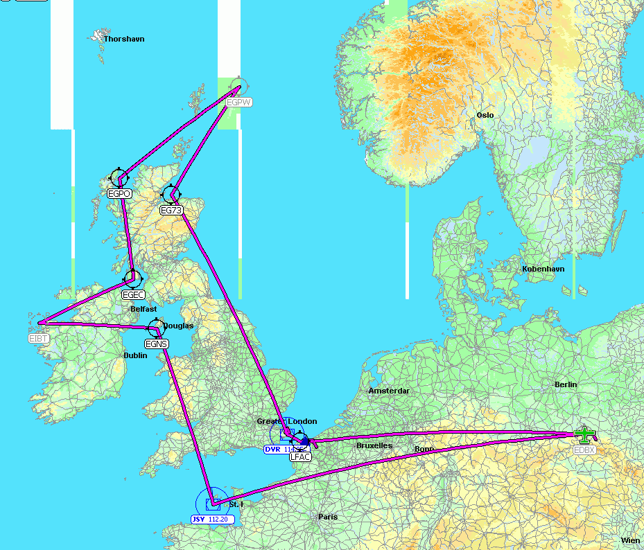 Geplante Route